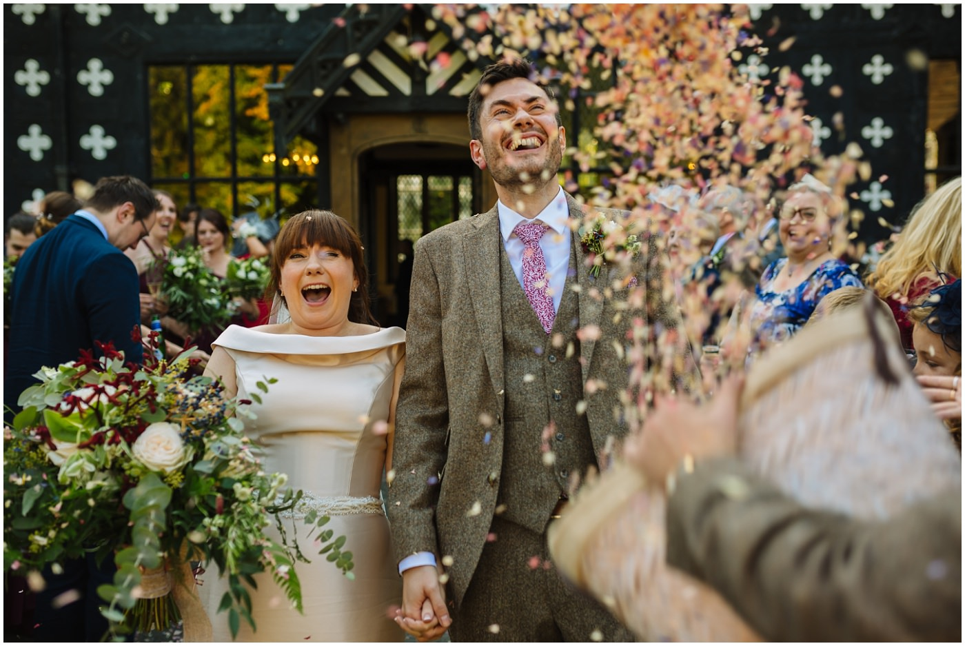 buckets of confetti at salmesbury hall