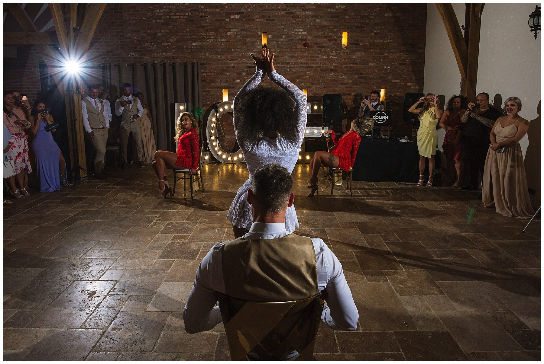 bride dances for her husband at swancar farm