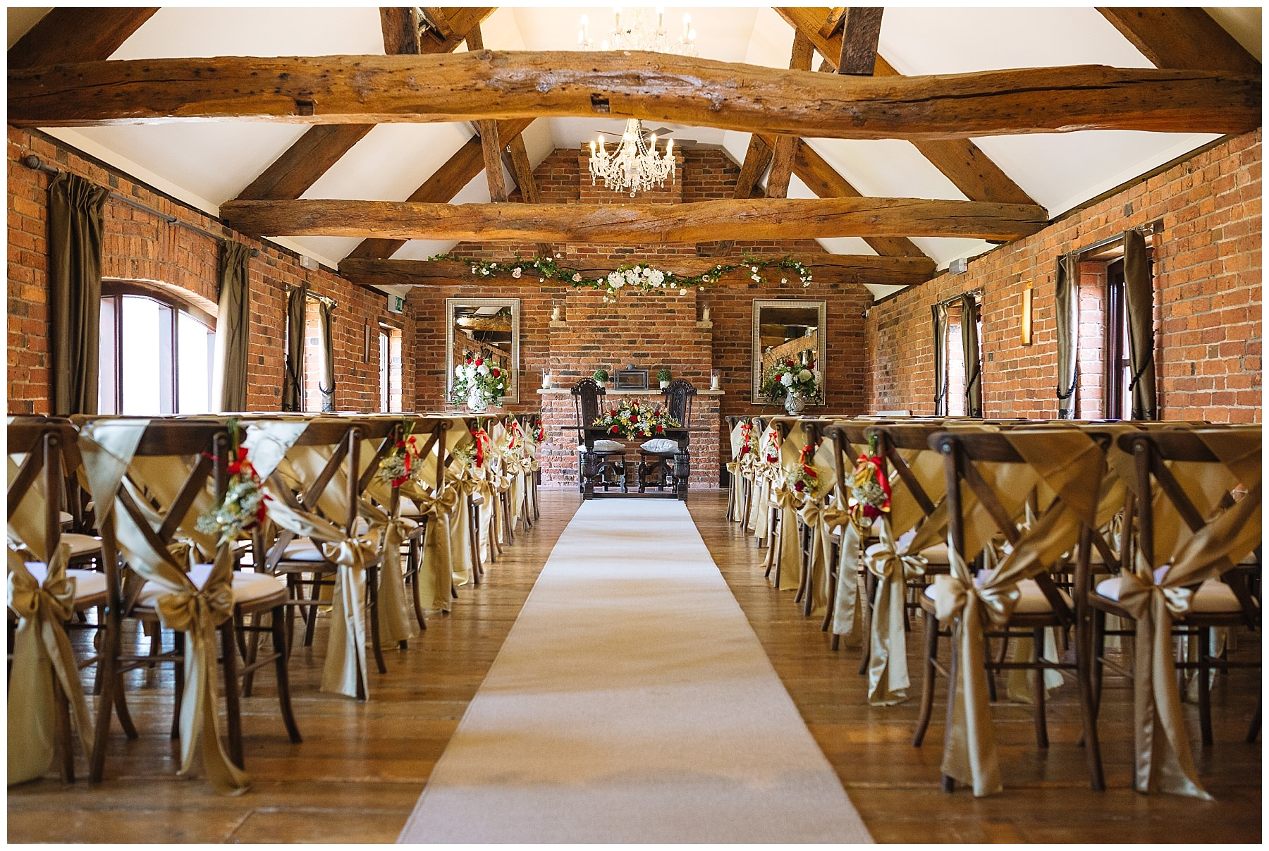 ceremony room at swancar farm