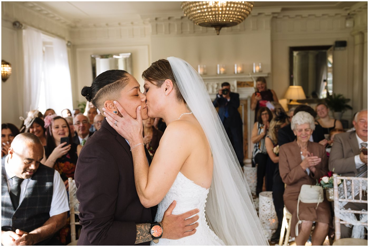 Same Sex Wedding First Kiss