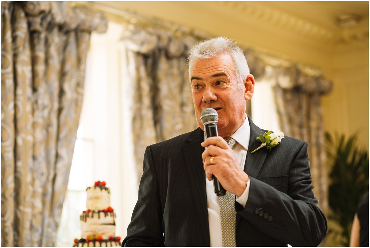 Father of the bride speech at Eaves Hall Wedding