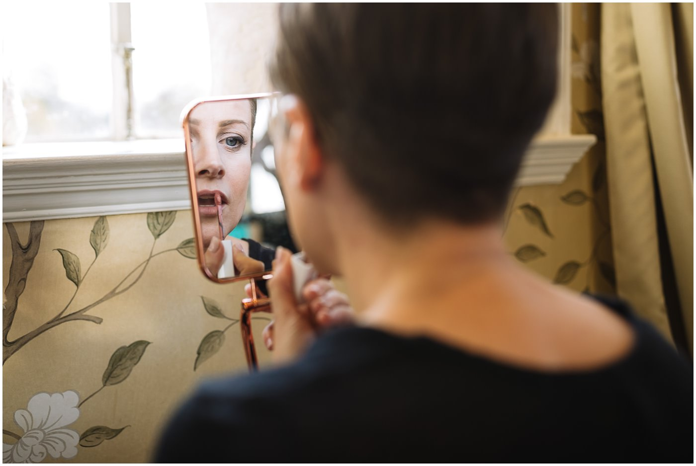 Bridal prep at Eaves Hall