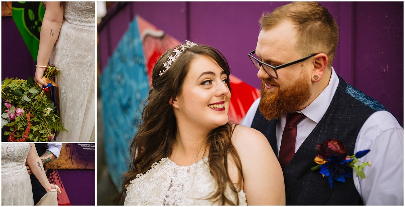 Tattooed Alternative Manchester Wedding