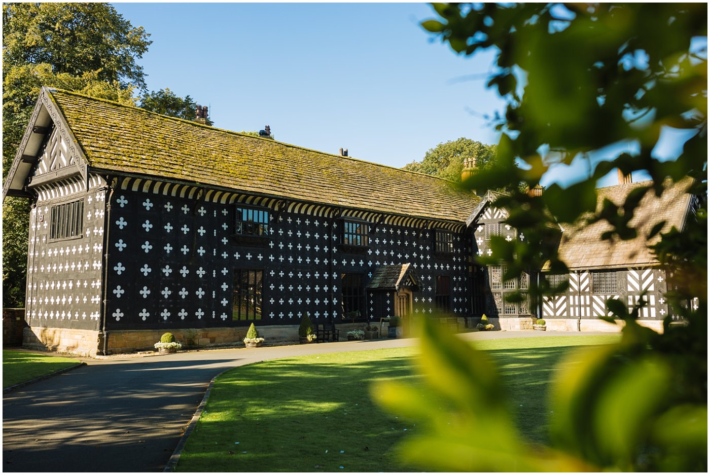 Samlesbury Hall in summer
