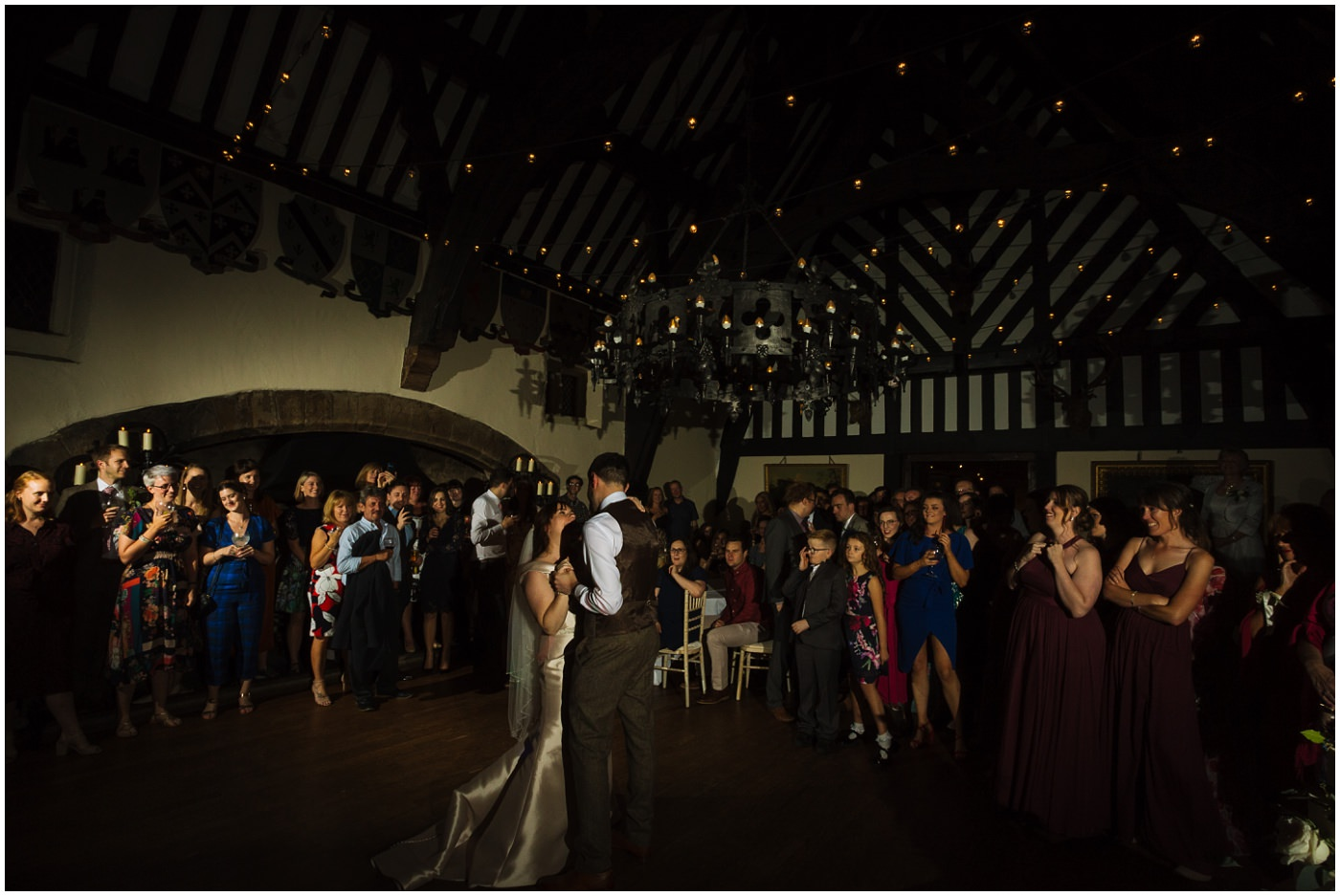 first dance in the banquet hall at samlesbury hall