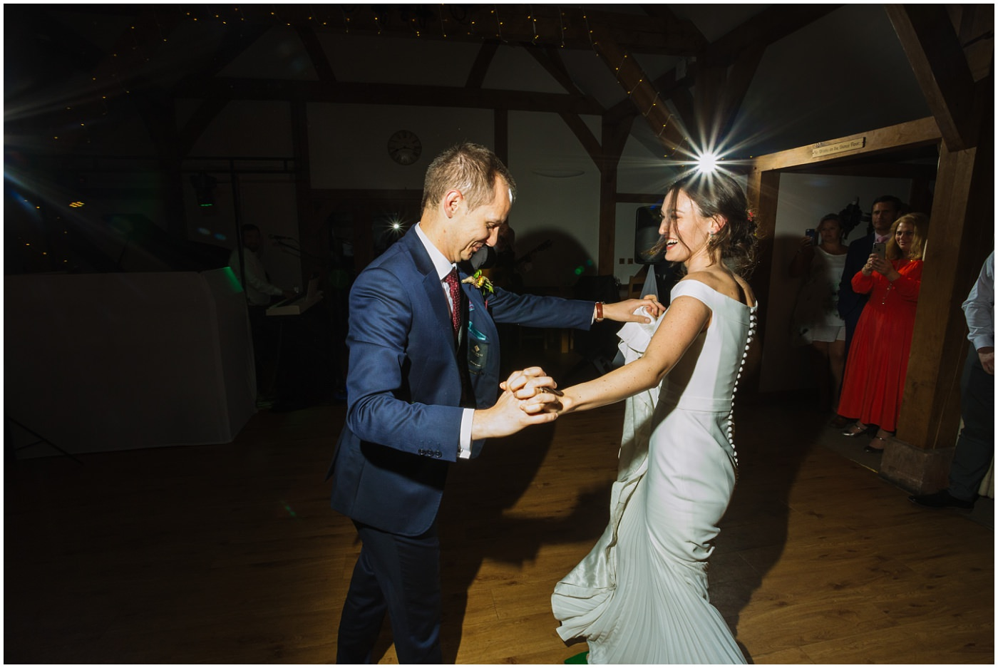 first dance at sandhole oak barn wedding