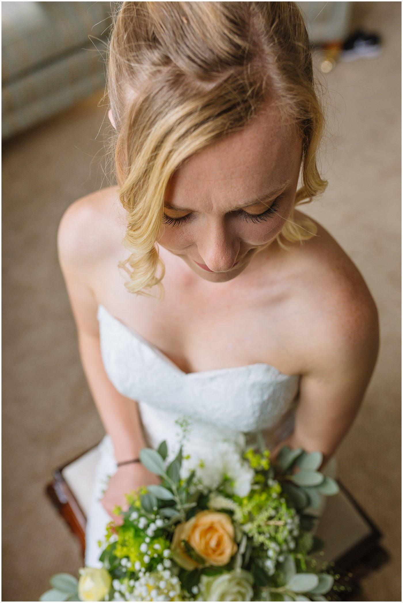 beautiful american bride at wildwood and eden wedding