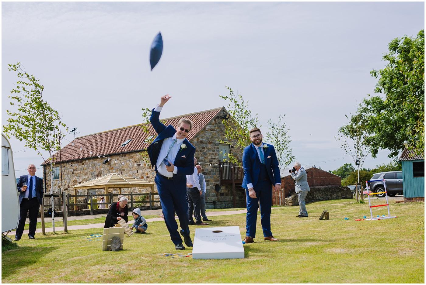 outdoor garden games at festival tipi wedding