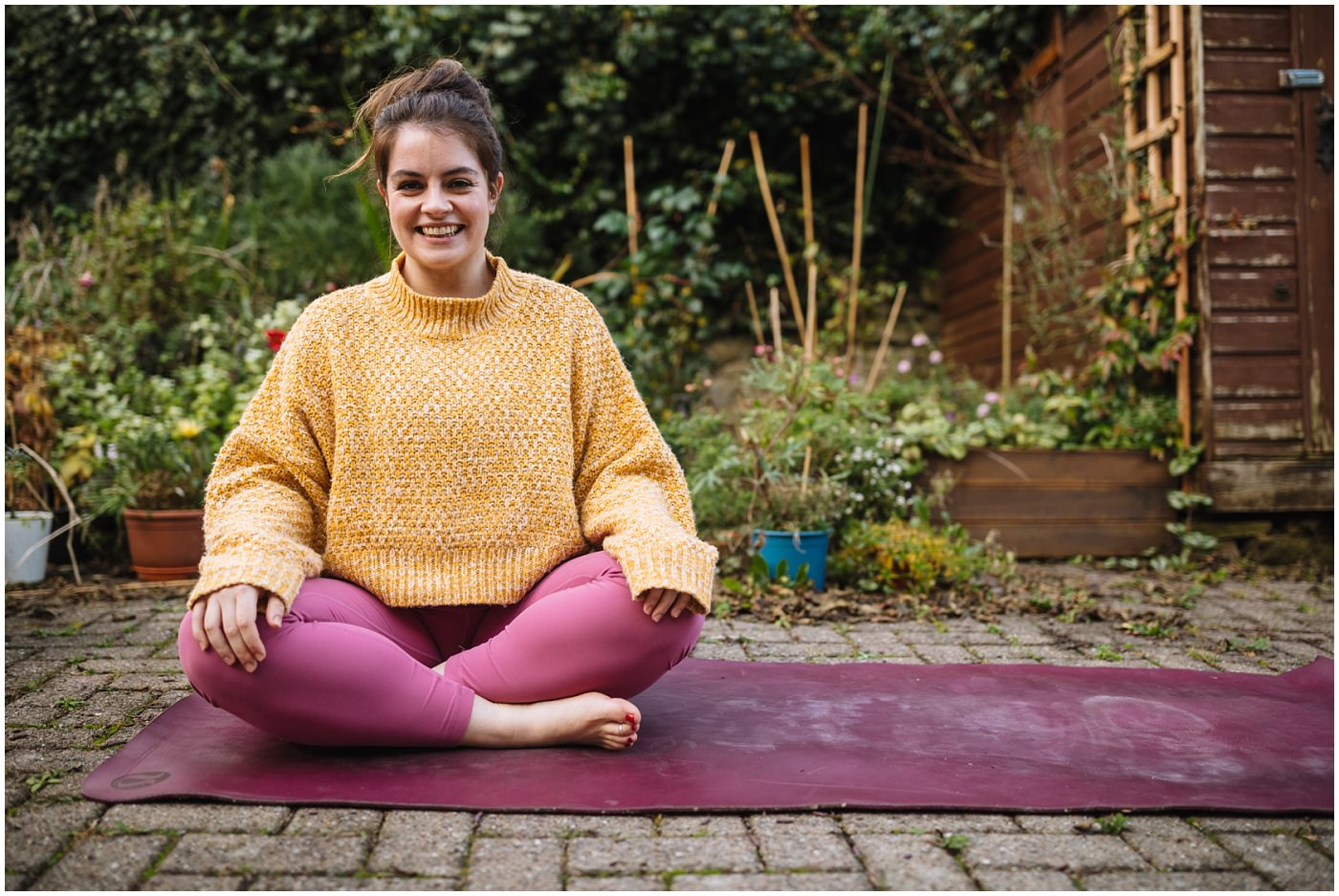 Yoga at home promotional photograph