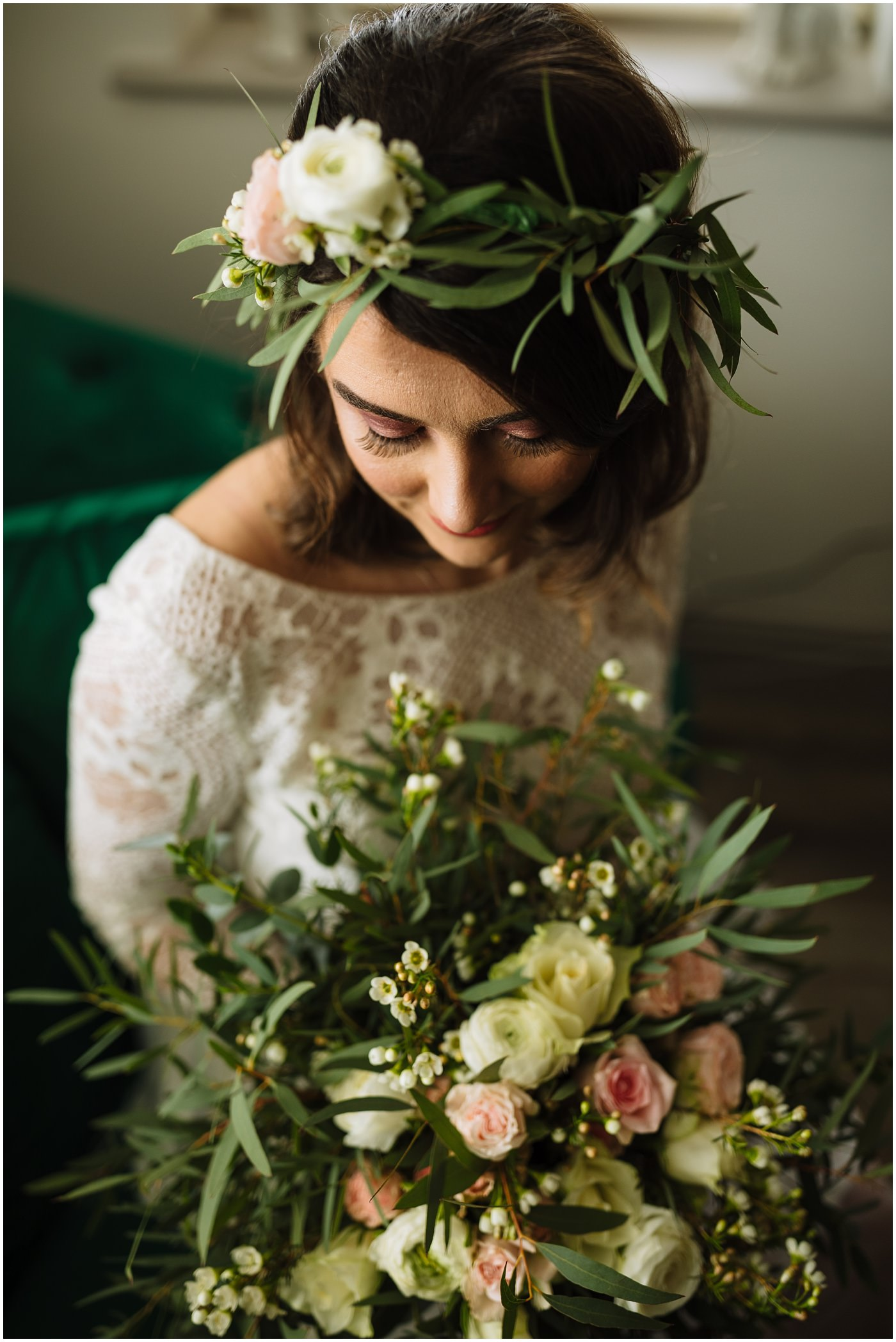 Beautiful bridal portrait at The Wellbeing Farm